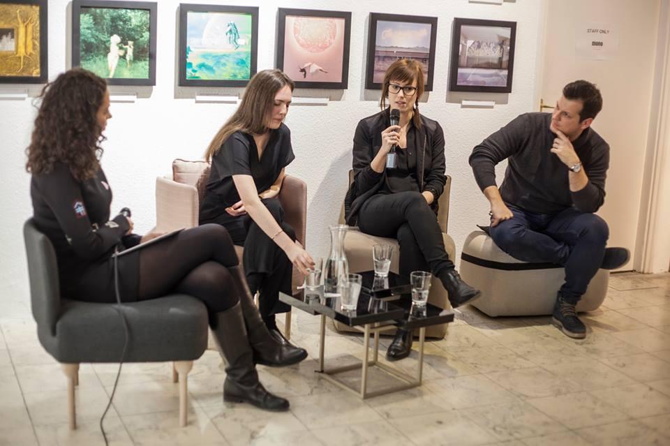 Balról jobbra haladva: Korn Anita, Köller Dalma, Kovács Ágnes és Béli Ádám Photo:MOME Design- és művészmenedzsment
