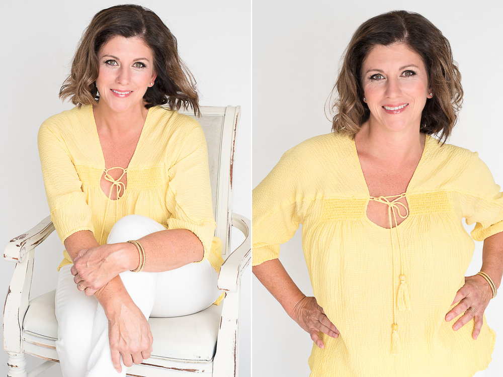 Looking lovely in yellow, a sunny look for a positive disposition.