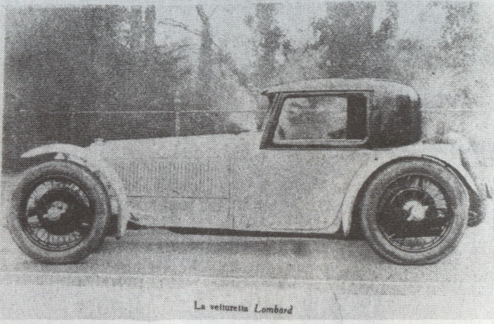 The car soon after construction 1927