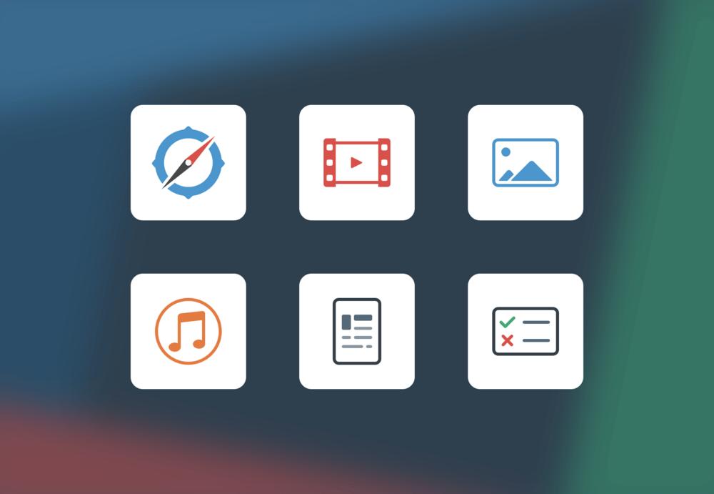 Activity type icons