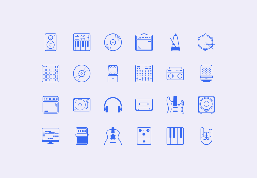"""In The Studio"" Icon Set"