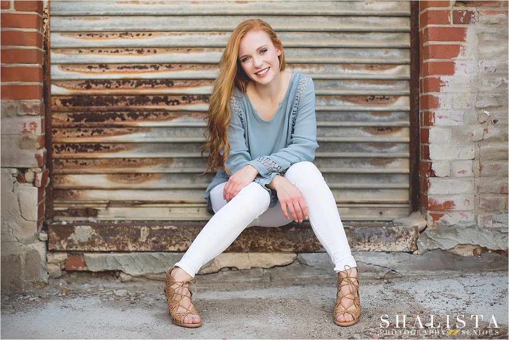Rustic Senior Images by rusty door.
