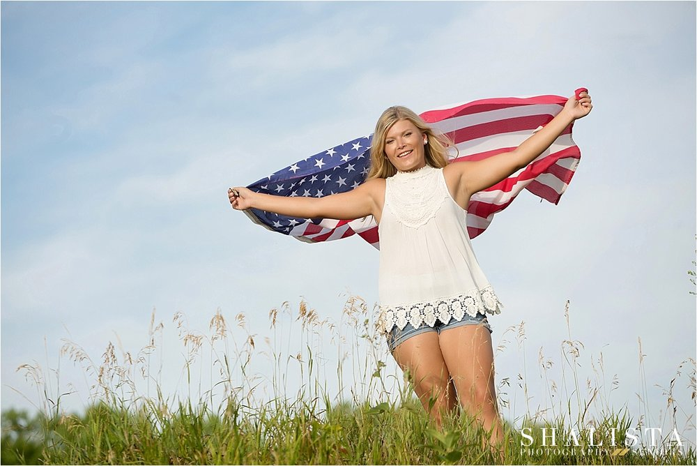 Patriotic Senior Poses