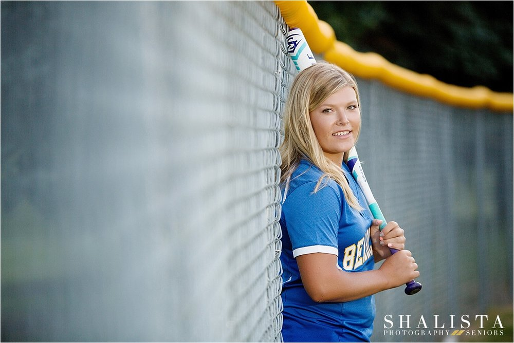 Senior girl softball poses