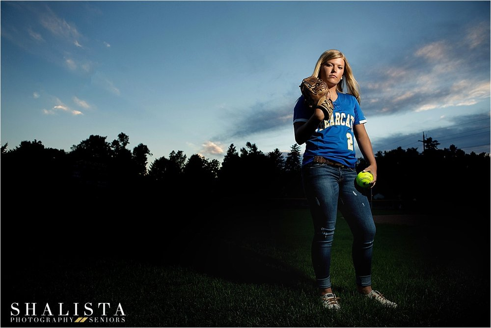 Senior softball senior portraits