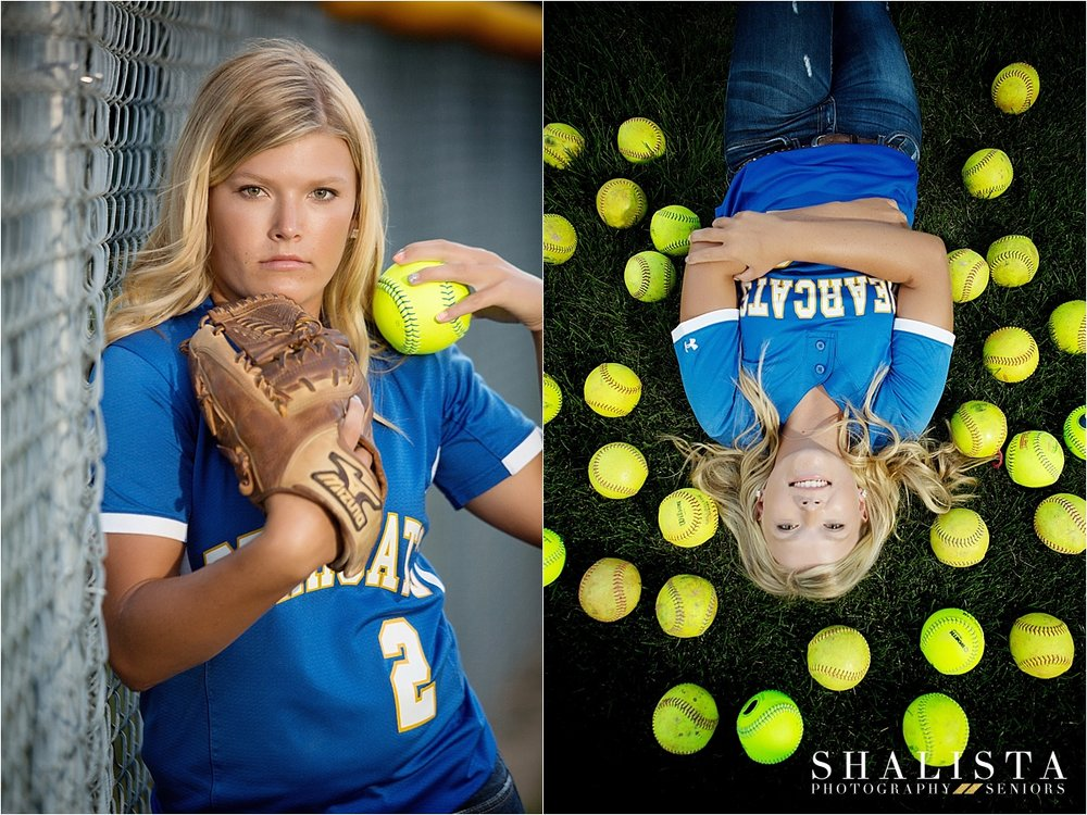 Softball player senior girl