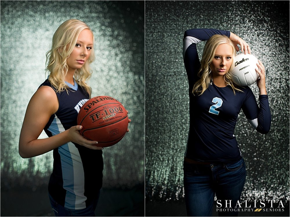 Girls basketball and volleyball senior photos