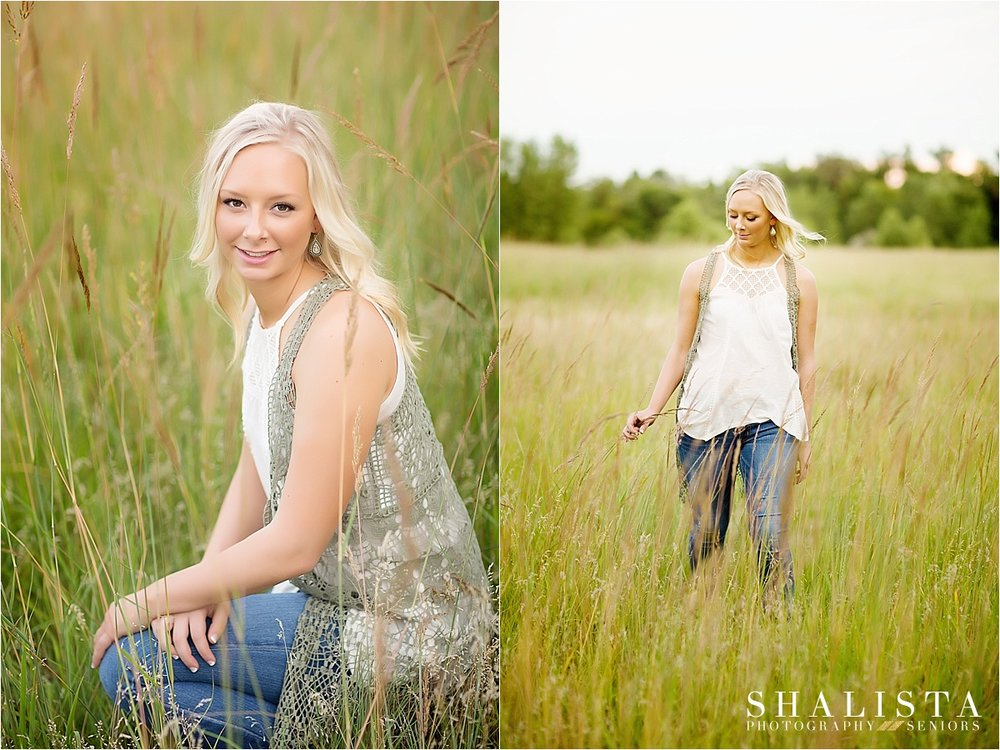 Senior girl in tall grass