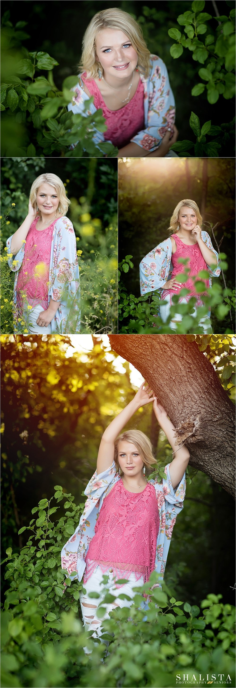 Woodsy sunflare senior photos | Shalista Seniors
