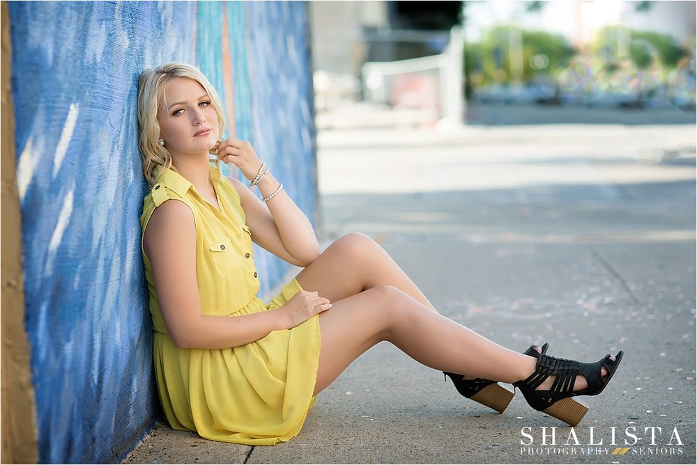 Urban Blue and Yellow Senior | Shalista Photography