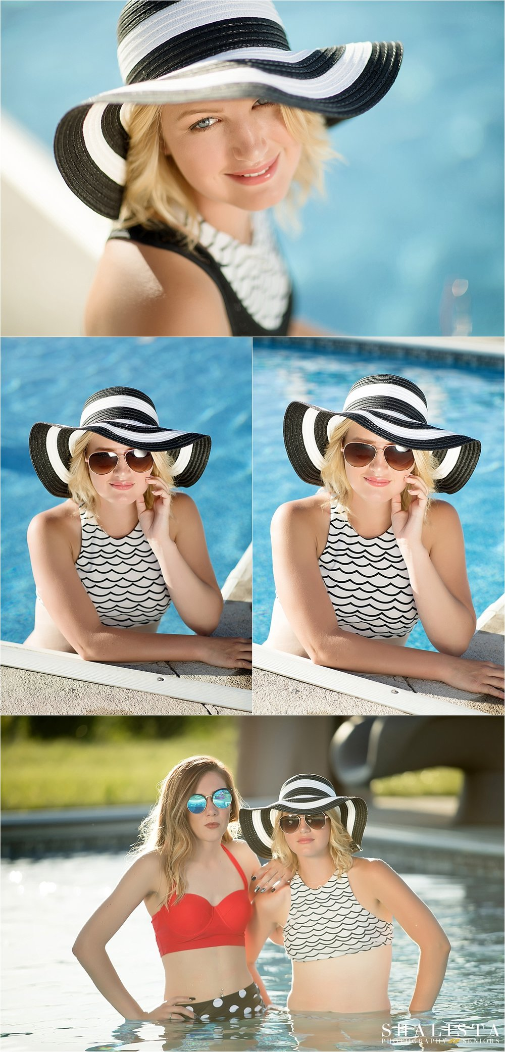 Pool Senior Photos  |  Shalista Photography