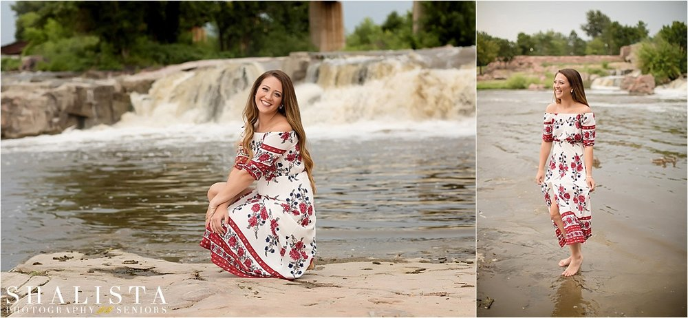 Sioux Falls, Falls Park Senior Photos