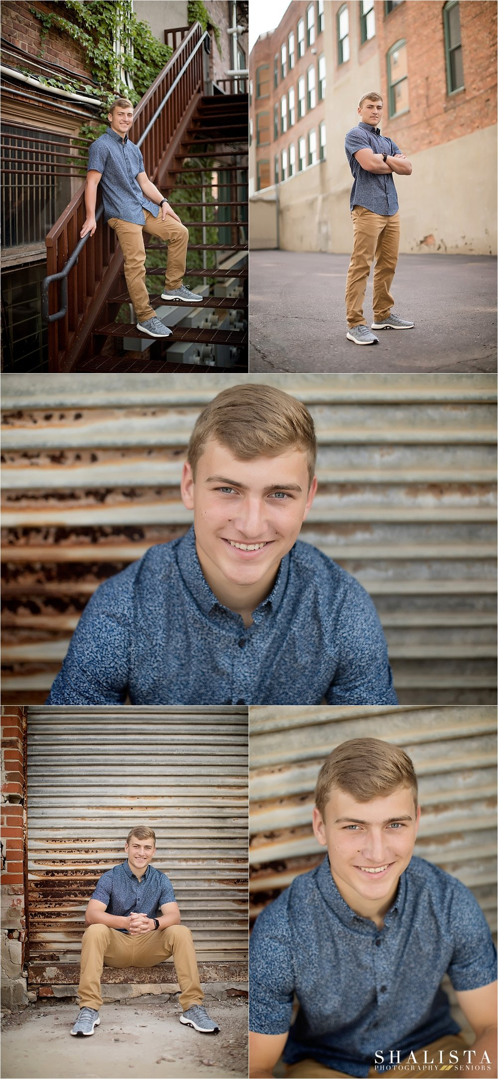 Downtown South Dakota Urban Senior portraits