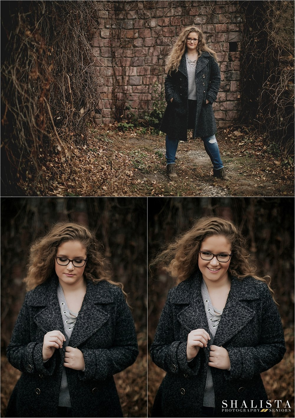 Dark and Moody Senior photos in South Dakota