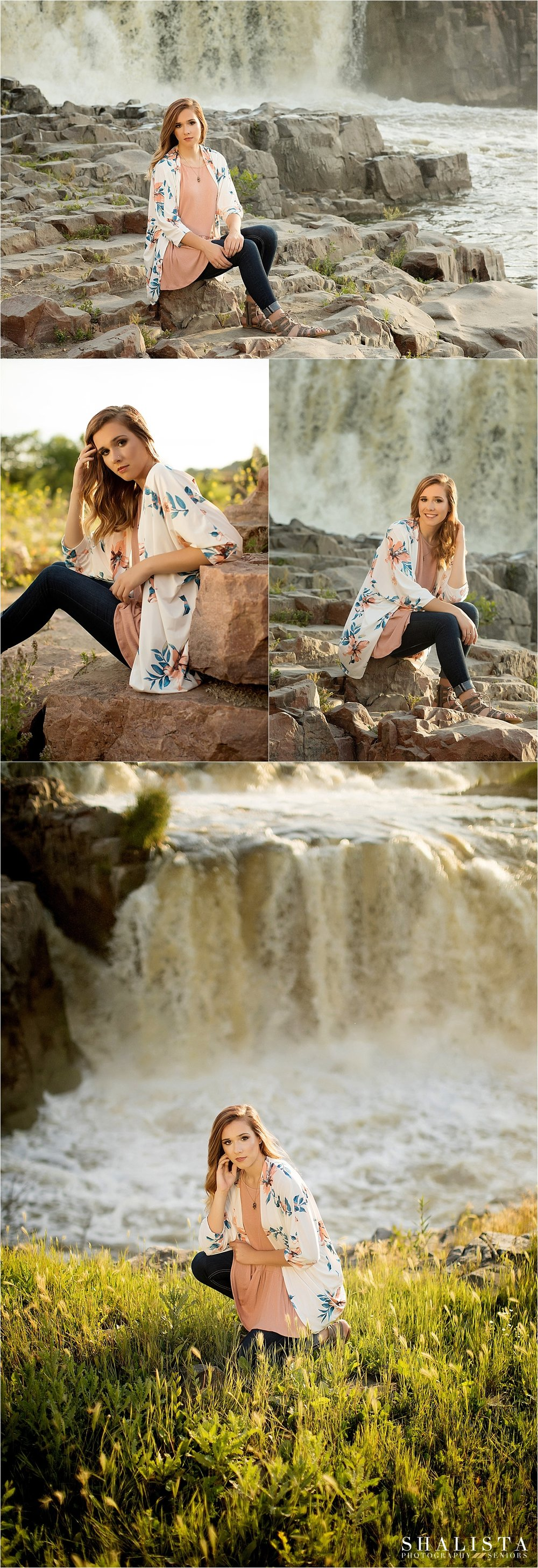Sioux Falls, Falls Park, Senior photos