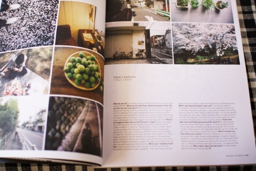 Three of my photos used in Frankie magazine.  Photo by Hiki-san, at Jollygoo blog