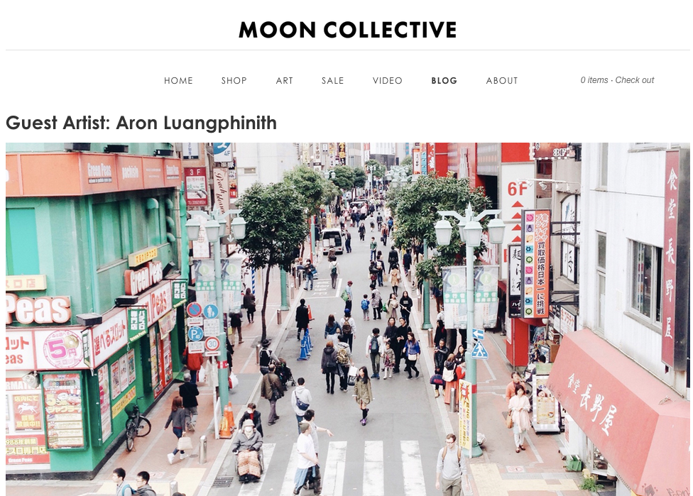 Interview and feature on Moon Collective website