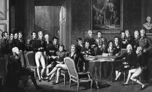 an analysis of the congress of vienna Although the congress of vienna was not a main topic for political caricature, it was anything but ignored during the first five months of 1815, while monarchs and diplomats were deliberating on europe's future, caricaturists in great britain,.