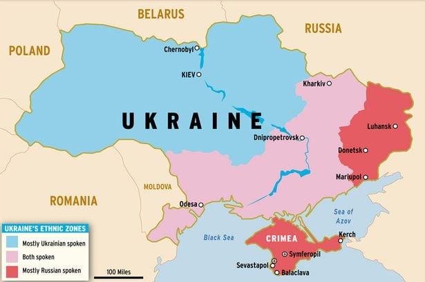ukraine russia map conflict