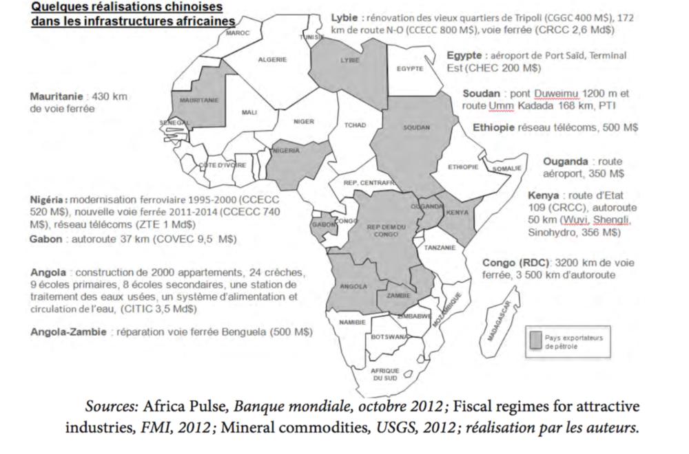 Carte 2: Un continent en travaux