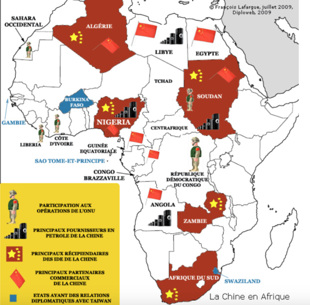 Carte 3: La Chine en Afrique