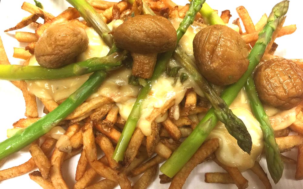 Asparagus & Mushroom Poutine