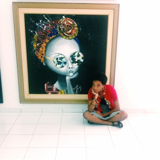 Me getting my life in front of an original at Nike Art Gallery, Lagos