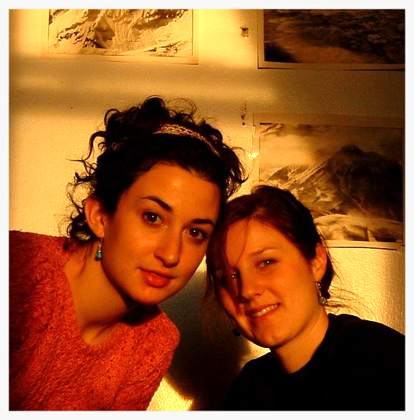 Sarah and I in our old apartment, circa 2003...Boston, Mass.