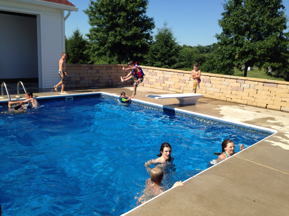 Custom Pool with Diving Board in Selinsgrove