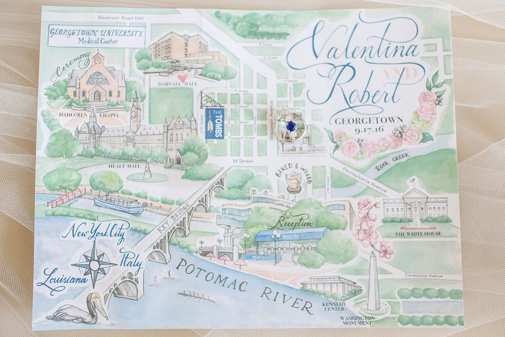 This map shows so many meaningful places to Val and Robert!
