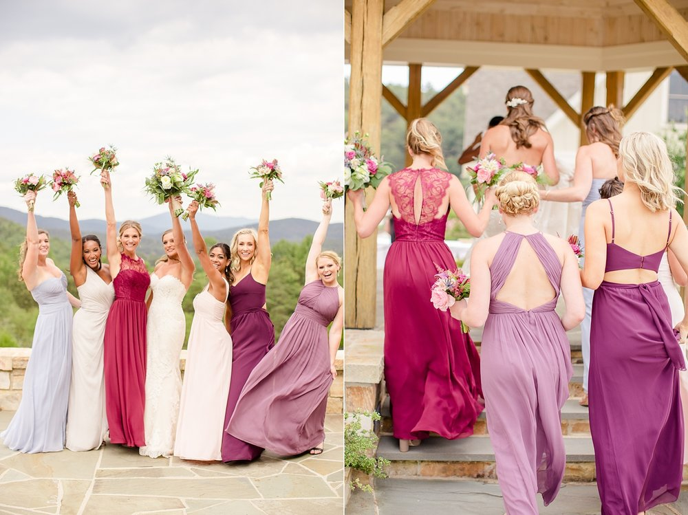 These bridesmaid's dress colors were so perfect!