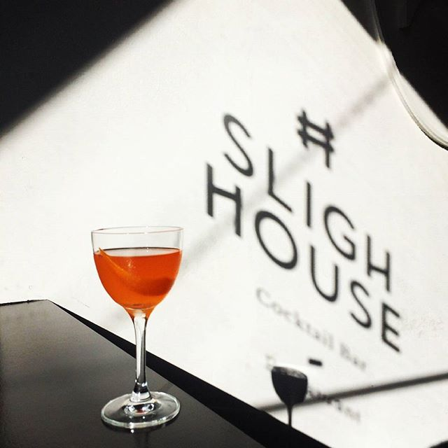 'Orange Is The New Black Label' - Johnnie Walker Black Label, Aperol, Homemade Orange Cordial, Benedictine & Orange Bitters  #slighhouse #cocktailbar #edinburgh #johnniewalker #blacklabel #whisky #cocktail #aperol #benedictine #orangeisthenewblack