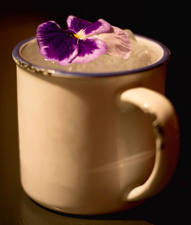 Moonreyka - Perfect Sunday cure for those feeling a lil worse for wear on this gloriously sunny day!! - Reyka vodka, lime, velvet falernum, orgeat, ginger beer and a dash of cardamom tincture. Topped with an edible flower 🌸. @reyka_vodka #reykavodka #cocktails #edinburghcocktails #edinburghrestaurants #sundays #peaksandtroughs