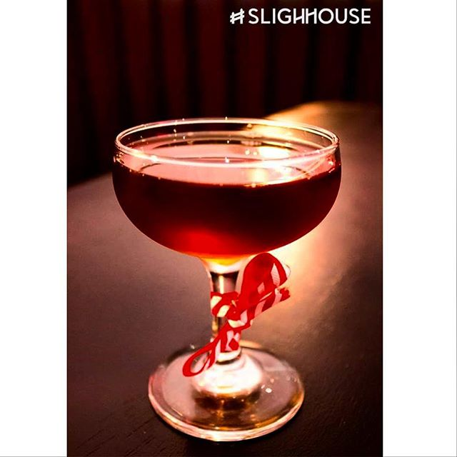 """Auld Bamboo"" - a #slighhouse winter cocktail! - Tawney Port, lemon infused cocci, kaluha, pimento dram. #cocktails #edinburghcocktails #edinburghrestaurants #georgeivbridge"