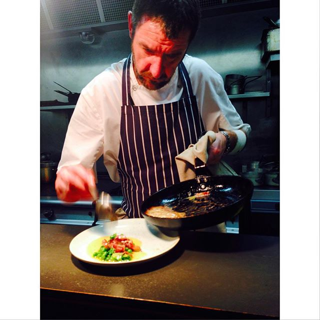 Big Man Kris and his fishy concoction #chef #scottishfish #edinburghrestaurants #slighhouse