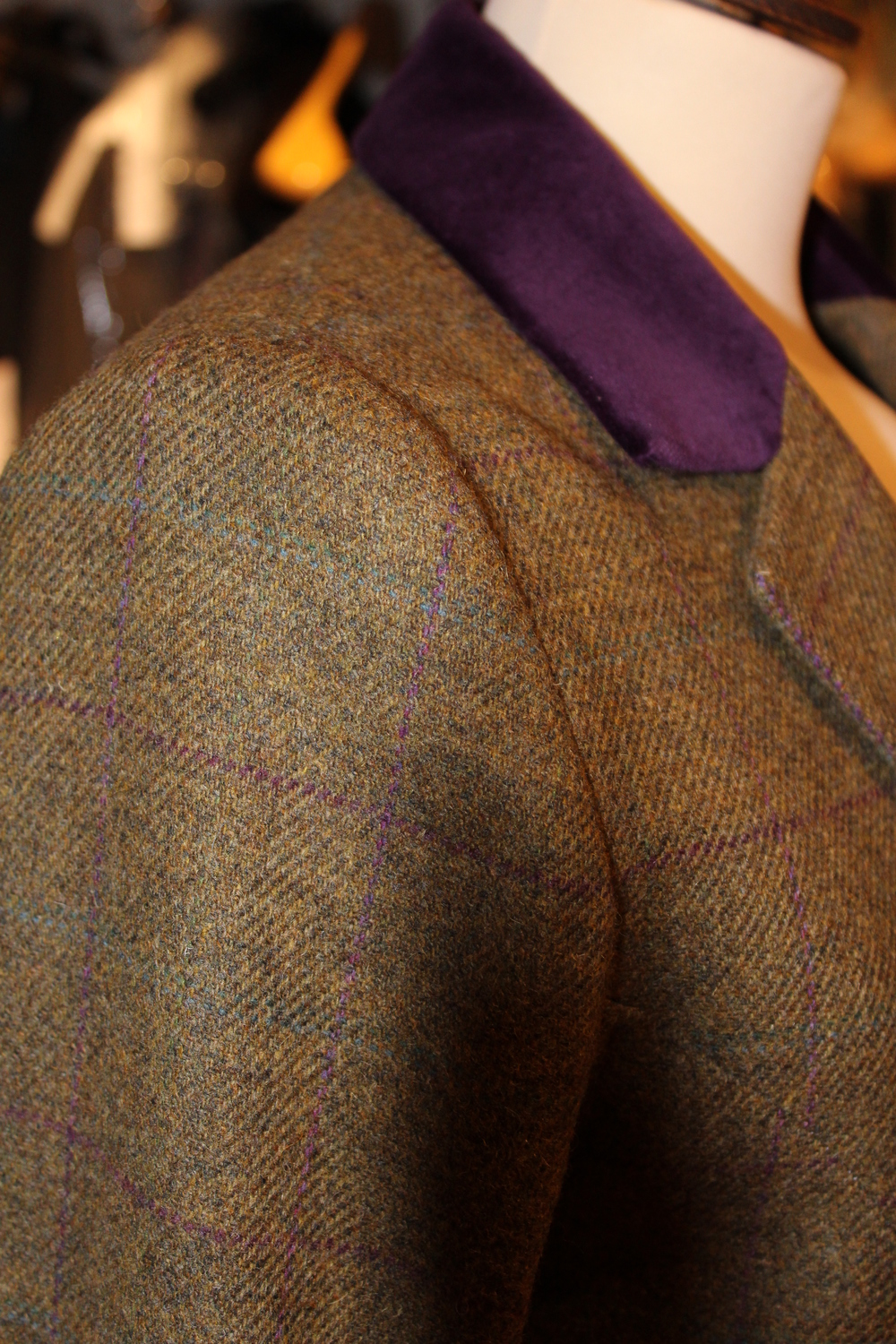 Ladies-tweed-suit-jacket-bespoke-Brook Taverner-velvet-collar-all-UK-made-tailored.jpg