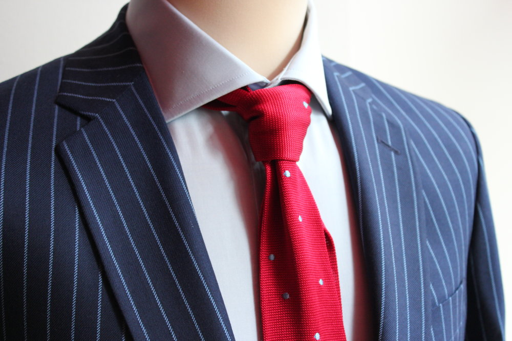 blue-chalk-stripe-harrisons-british-bespoke-tailoring-shirt-augustus-hare-knitted-tie-all-uk-made.JPG