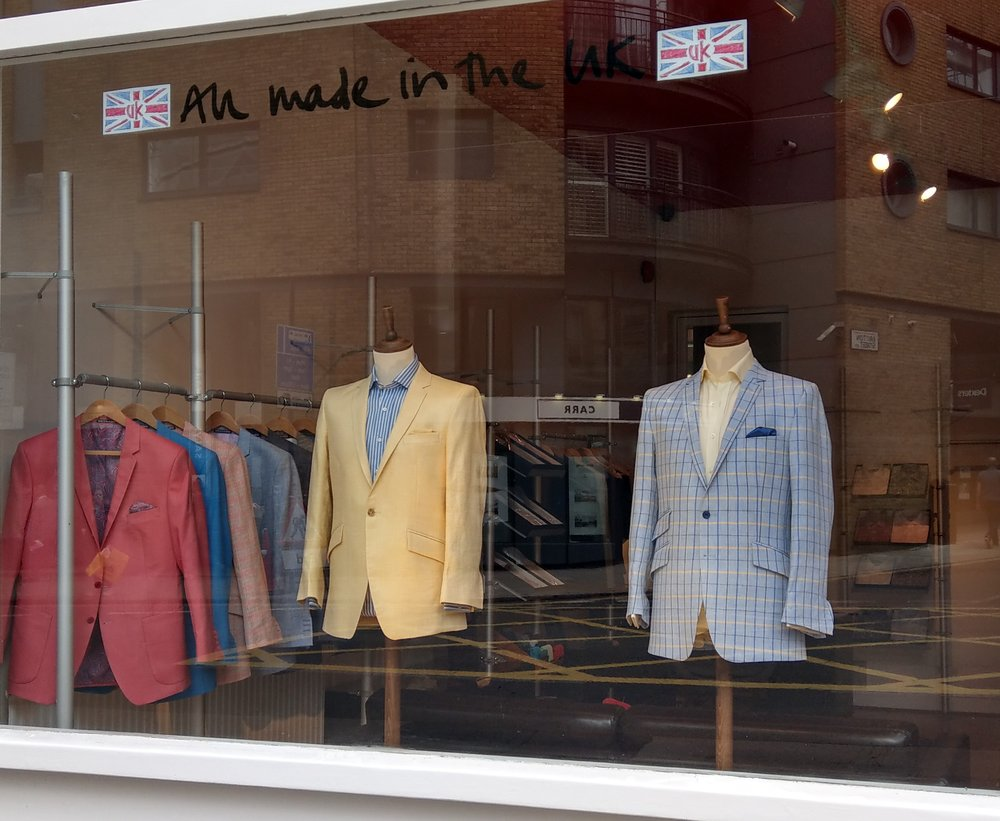 Yellow Dugdale silk linen and Blue check Bateman Ogden jacket June 18 2.jpg