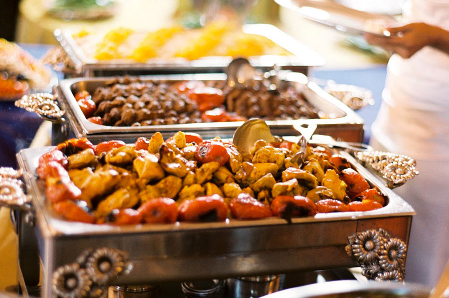 Lunch buffet for Arya global cuisine redwood city