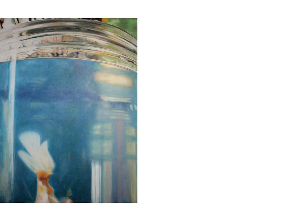 "Goldfish Descending   36""x48"" Oil on canvas $2800"
