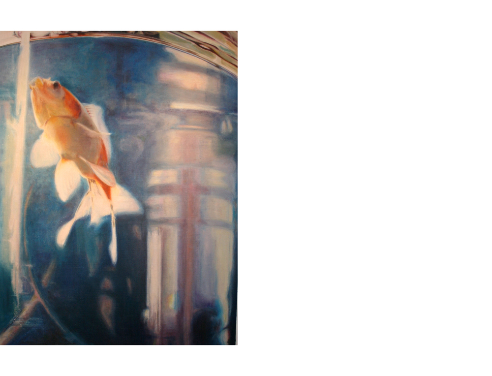 "Goldfish Ascending   36""x48""  Oil on canvas  $3800"