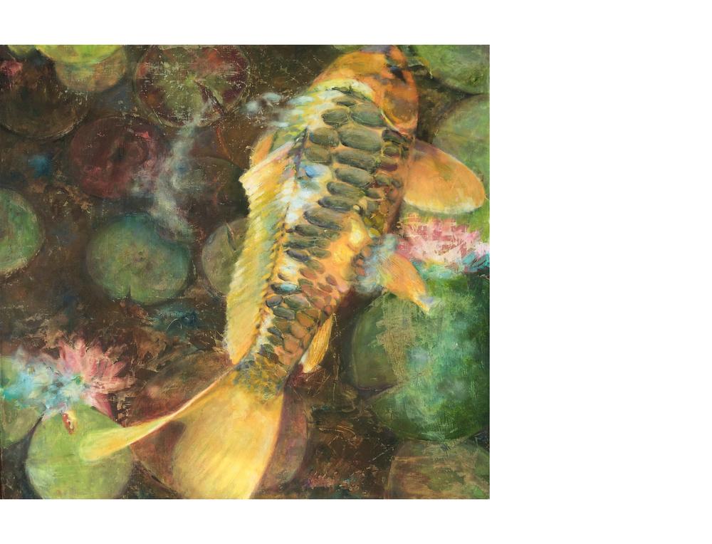 "Spokane Japanese Garden   30"" 28"" Oil on canvas $800"