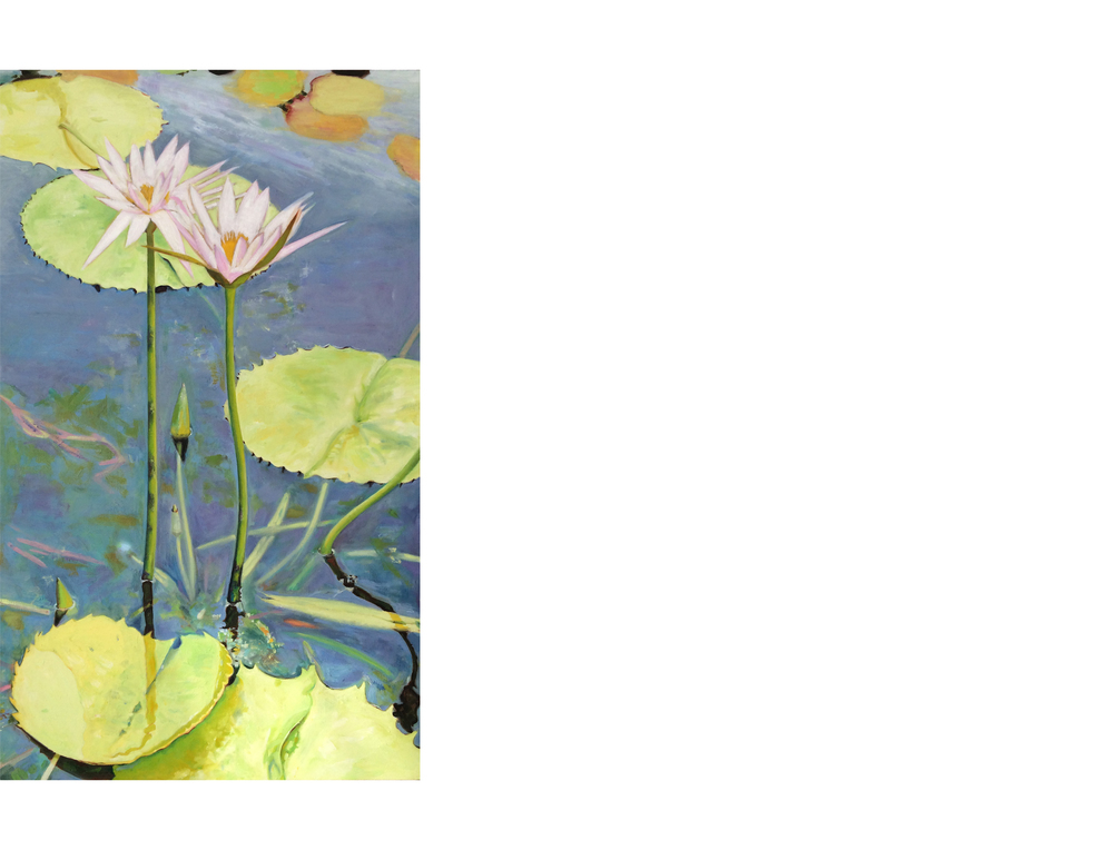 "Brooklyn Botanical Garden   24""x40""  Oil on canvas  $1600"