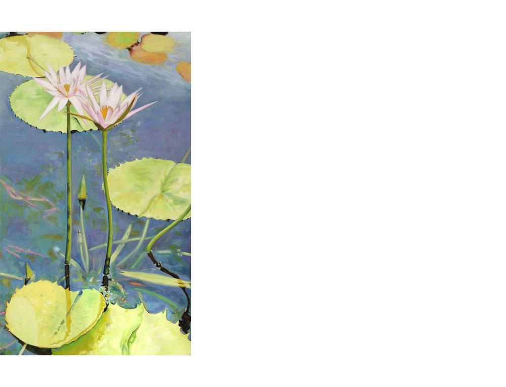 "Brooklyn Botanical Garden   24""x40"" Oil on canvas $1600"