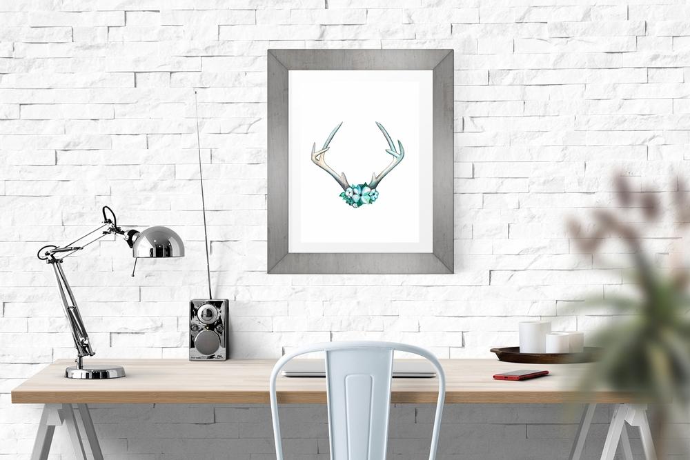 Desk Frame antlers.jpg