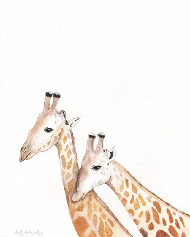"""Life Long Love""  He will take great delight in you, he will quiet you with his love. Zephaniah 3:17 #watercolor_art #etsysellersofinstagram #painting #art #watercolorpainting #giraffe #giraffepainting #artoftheday #illustration #illustrations #watercolor_art #artcollective #watercolour #etsyshop #etsyseller #babyroomdecor"