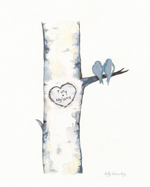 Birch tree love birds💙 #watercolor #watercolour #minimalism #homedecor #lovebirds #love #artistsoninstagram #artist #etsyshop #etsyseller #weddinggift #artofinstagram #artoftheday #illustration #drawing #painting #birdart #personalize #personalizedgifts #painting #art #watercolorpainting #etsysellersofinstagram #watercolor_art #lovebird #artoftheday #illustration