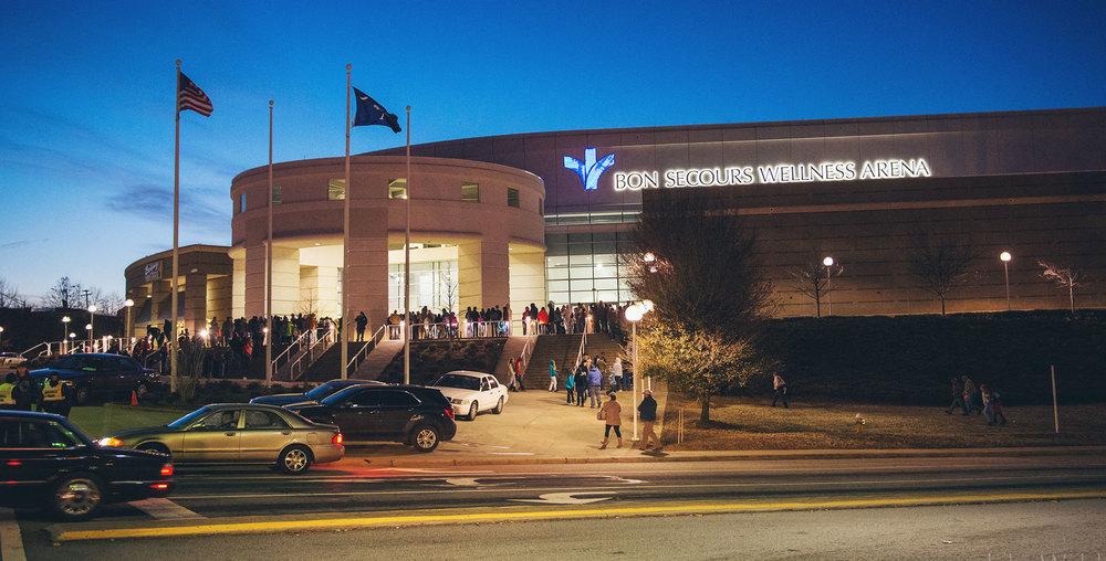 Upstate Arena  Greenville, South Carolina $50 million arena Seats: 15,000, 1,200 club,Suites: 30