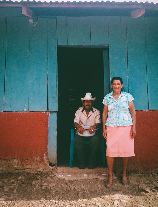 Domatila and her husband at their home outside of Camuapa, Nicaragua. May, 2014. Photo by Stevi Lynn