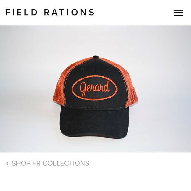 "#Saturday Spotlight 🔦  This is one of two ""Racer"" caps we did inspired by classic pit crew paraphernalia. Shop other goods like this on our website in the lookbook tab... #FRlifestyle www.fieldrations1945.com"